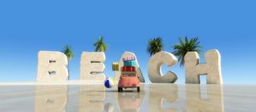 carro, Sun e praia Foto de Stock