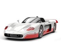 Carro super do conceito branco com detalhes vermelhos ilustração royalty free