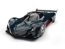 Carro super do conceito escuro da raça da cerceta com detalhes vermelhos ilustração stock