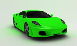 Carro super verde Fotografia de Stock