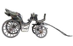 Carro traído por caballo aislado en el backhround blanco Imagen de archivo libre de regalías