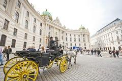 Carro traído por caballo en Viena fotografía de archivo libre de regalías