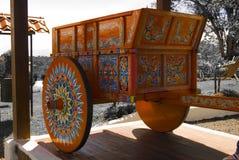Carro tradicional do BOI Desaturated imagens de stock