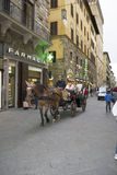 Carro turístico en Florencia Fotografía de archivo libre de regalías