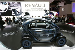 Carro twizy elétrico de Renault Fotografia de Stock