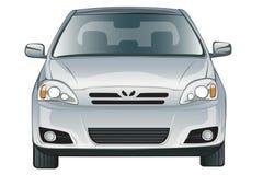 Carro uma parte dianteira em um fundo branco Imagem de Stock Royalty Free