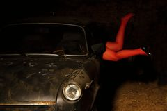 Carro velho Fotografia de Stock