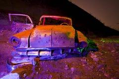 Carro velho de Chevy do Lit instantâneo foto de stock