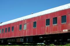 Carro velho do comboio de passageiros imagens de stock