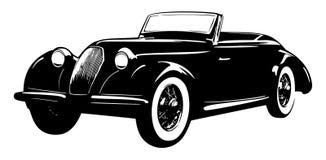 Carro velho do vintage isolado no fundo branco Imagens de Stock Royalty Free