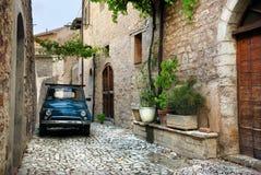 Carro velho italiano, Úmbria imagens de stock