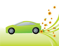 Carro verde da ecologia Fotos de Stock