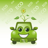 Carro verde de Eco Fotografia de Stock Royalty Free