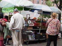 Carro verde de NYC Foto de archivo libre de regalías