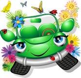 Carro verde dos desenhos animados ilustração do vetor