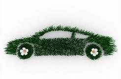 Carro verde feito da grama Imagem de Stock Royalty Free