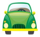 Carro verde no fundo branco Imagem de Stock