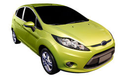 Carro verde novo Foto de Stock Royalty Free