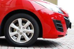 Carro vermelho Imagem de Stock Royalty Free