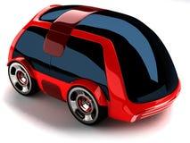 Carro vermelho Fotografia de Stock Royalty Free