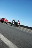 Carro vermelho bilhete de tráfego dado Fotos de Stock Royalty Free