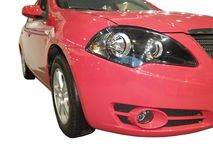 Carro vermelho brilhante novo Foto de Stock Royalty Free