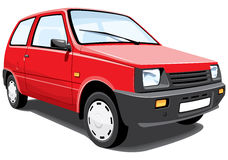 Carro vermelho da cidade Imagem de Stock Royalty Free