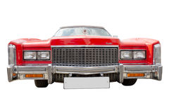Carro vermelho de cadillac, isolado Imagem de Stock