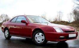 Carro vermelho de 3d Fotografia de Stock