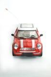 Carro vermelho do brinquedo de Mini Cooper imagem de stock royalty free