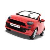 Carro vermelho do conceito ilustração stock