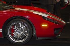 Carro vermelho do músculo fotos de stock