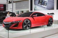 Carro vermelho do nsx do acura de Honda foto de stock royalty free