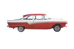 Carro vermelho e branco do músculo Fotografia de Stock Royalty Free