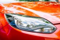 Carro vermelho Front Headlight Foto de Stock