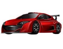 Carro vermelho futurista do conceito Fotografia de Stock Royalty Free