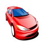 Carro vermelho rápido Imagem de Stock Royalty Free