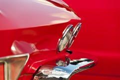 Carro vermelho velho foto de stock royalty free