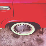 Carro vermelho velho Fotos de Stock Royalty Free