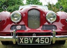 Carro vermelho velho do dardo do jowett Fotos de Stock