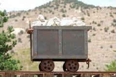 Carro viejo de la mina Imagenes de archivo