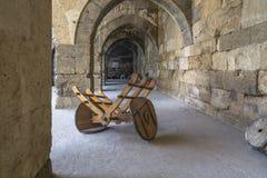Carro viejo de la mula Fotos de archivo libres de regalías
