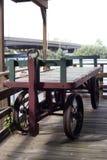 Carro viejo del ferrocarril imagenes de archivo