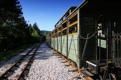 Carro viejo del tren en la estación Fotografía de archivo libre de regalías