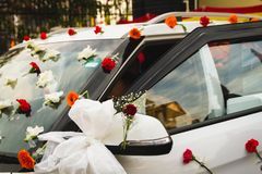 Carro wedding decorado Imagem de Stock