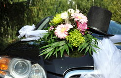 Carro Wedding decorado Fotografia de Stock Royalty Free
