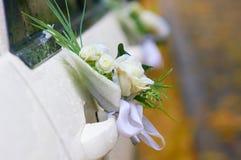 Carro wedding decorado imagem de stock