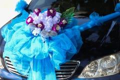 Carro Wedding decorado Foto de Stock Royalty Free