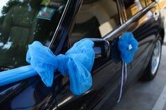 Carro Wedding decorado Imagens de Stock