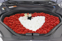 Carro Wedding decorado foto de stock